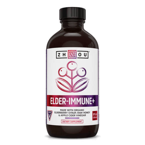 Zhou Nutrition Elderberry Syrup Superior Immune Support. Bottle front.