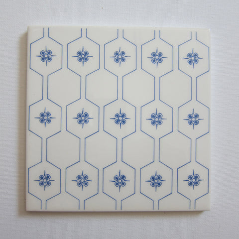 D1500 Vintage Blue Honeycomb Wall Tile
