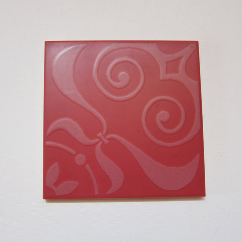 PD84 Vintage Neoclassical Red Floor Tile