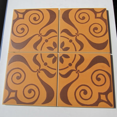 PD85 Vintage Neoclassical Brown Floor Tile