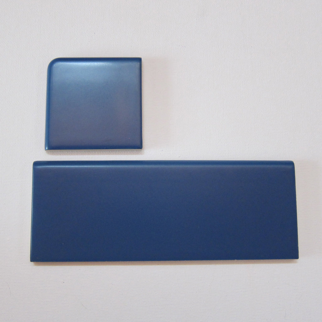 RD02 Vintage Blue Bullnose Tile for Floor