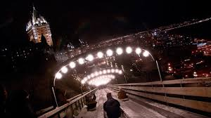 toboggan, winter, ice slide, old town, upper town, terrasse dufferin, winter activities, quebec, quebec city, canada, canada travel, travel