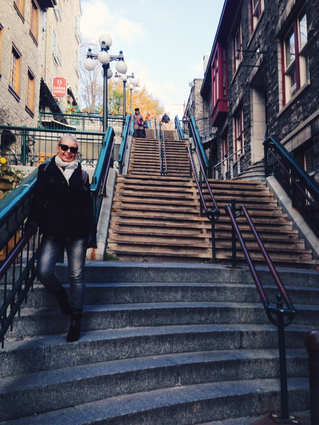 funicular, old town, lower town, upper town, quebec, quebec city, canada, canada travel, travel, autumn, fall, breakneck stairs
