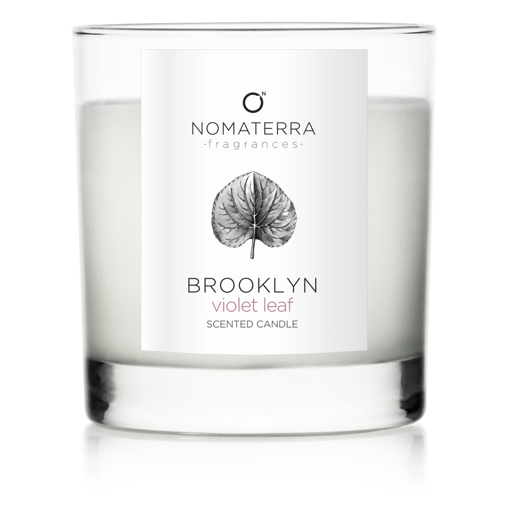 Brooklyn - Violet Leaf - Hand-Poured Soy Candle - 9 oz