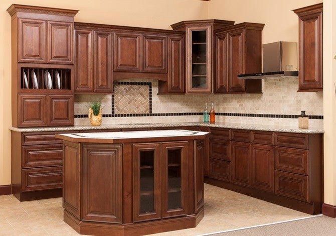 all wood kitchen cabinets charleston saddle 10x10 rta ebay
