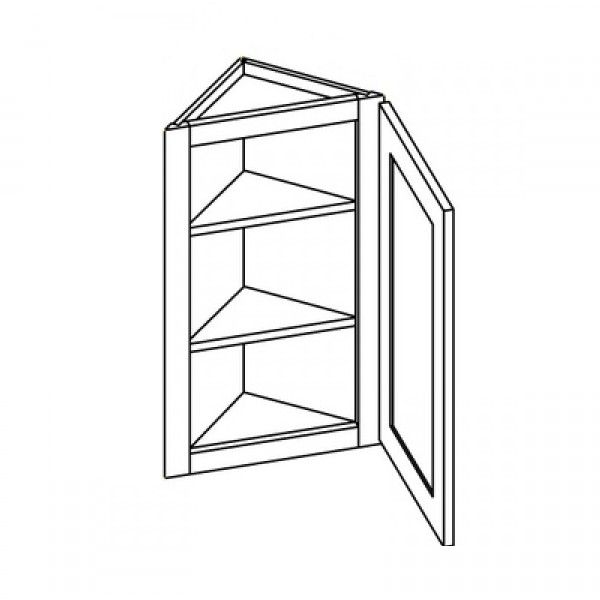 Shaker White Angle Wall Cabinet