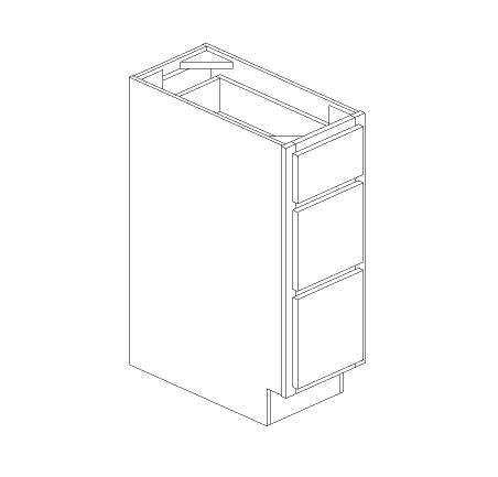 Cafe 3 Drawer Base Cabinet
