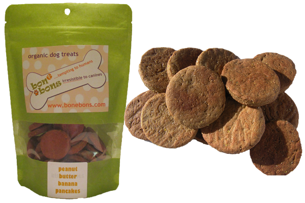 Peanut Butter Banana Pancakes Organic Grain Free Dog Treats