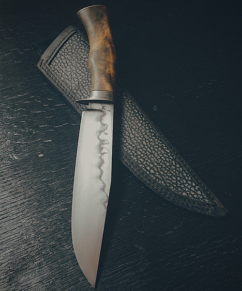 Fighter with Buckeye Burl - Prickblades.com