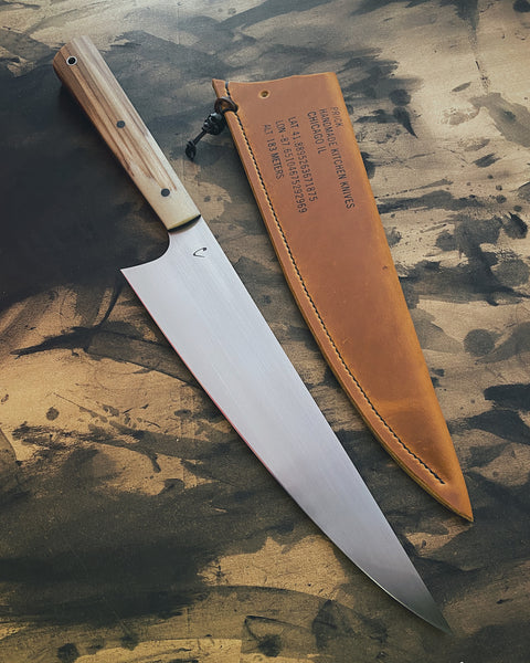 Chefs Knife with Rag Micarta