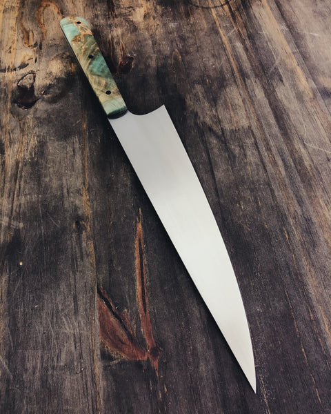 247mm Chefs Knife with Dyed Hackberry