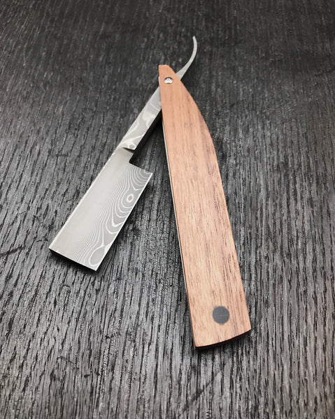 Damascus Square Point Straight Razor
