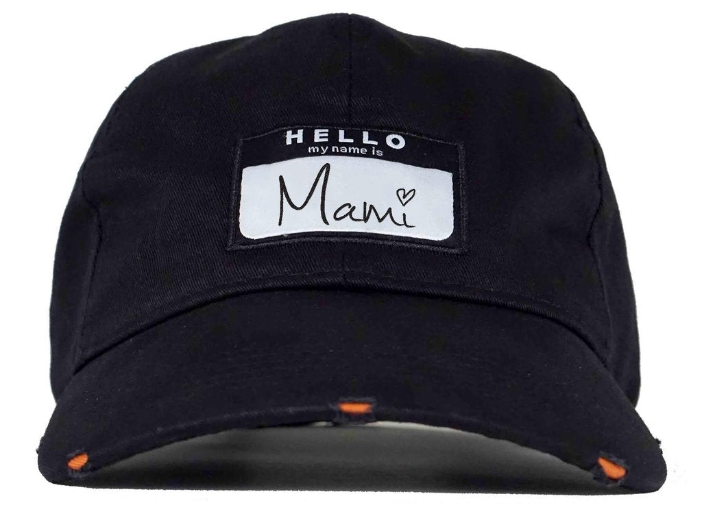 Hello My Name Is Mami Dad Hat Head Crack Nyc
