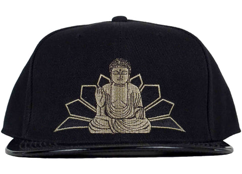 buddha snapback patent leather visor head crack nyc