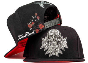 guns and roses hat skull snapback candy skull hat head crack nyc