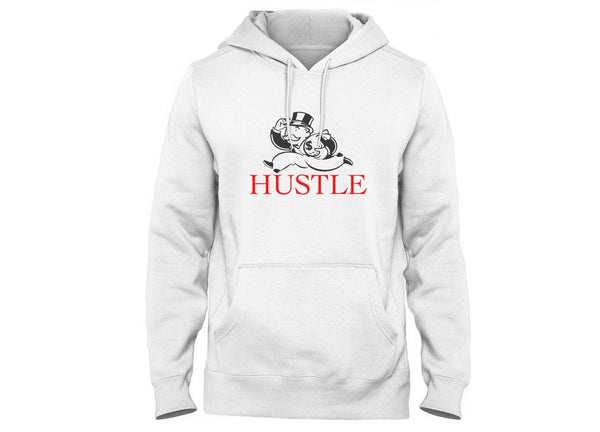 hustle hoodie monopoly man head crack nyc