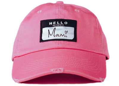 hello my name is mami hat mami dad hat head crack nyc