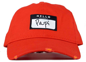 hello my name is papi hat papi dad hat head crack nyc