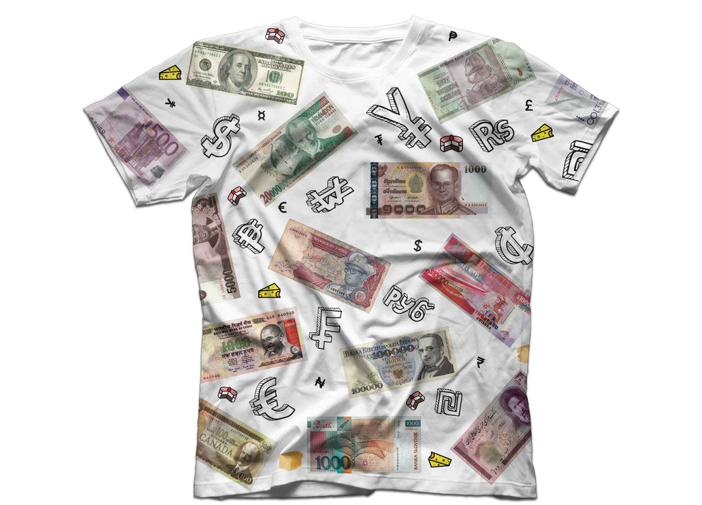 Cake Currency Money T shirt Head Crack NYC