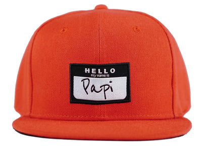 hello my name is papi snapback papi hat head crack nyc