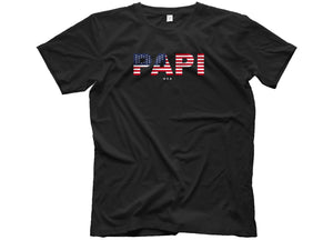 papi usa 4th of july t shirt head crack nyc