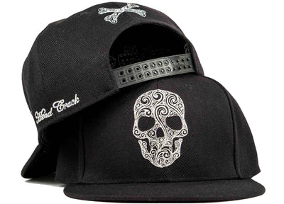 skull snapback candy skull hat head crack nyc