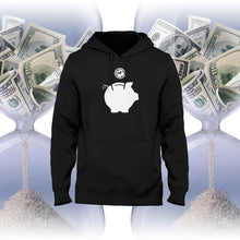 time is money hoodie piggy bank hoodie head crack nyc