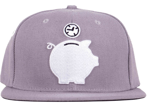 TIME IS MONEY PIGGY BANK SNAPBACK HEAD CRACK HAT