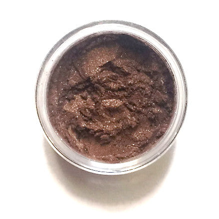 Bronze Mineral Eyeshadow - metallic bronze with a bit of gold shimmer