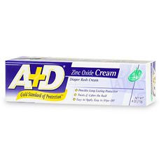 A+D Zinc Oxide Diaper Rash Cream with Aloe 4 oz