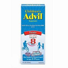 Advil Children's Fever, Ibuprofen Suspension Rasp.