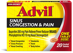 Advil Congestion Relief, Coated Tablets 20 ea