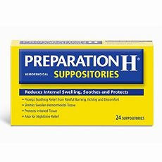 Preparation H Hemorrhoidal Suppositories 24 ea - OutpatientMD.com
