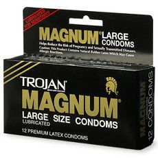 Trojan Magnum Lubricated Latex Condoms, Large Size - OutpatientMD.com