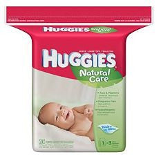 Huggies Natural Care Wipes Fragrance Free - 216 ea