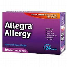 Allegra 24 Hour Allergy, Tablets 30 ea - OutpatientMD.com