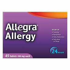 Allegra 24 Hour Allergy, Tablets 45 ea - OutpatientMD.com