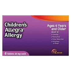 Allegra Children's 12 Hour Allergy, Tablets 6 ea