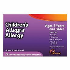 Allegra Children's 12 Hour Allergy, Orange Cream
