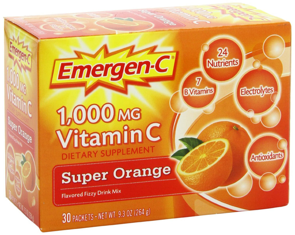 Emergen-C 1000 mg Vitamin C Fizzy Drink Mix Orange - OutpatientMD.com