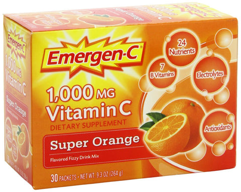 Emergen-C 1000 mg Vitamin C Fizzy Drink Mix Orange