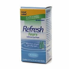 Refresh Tears, Lubricant Drops, 2 Bottles 0.5 oz - OutpatientMD.com