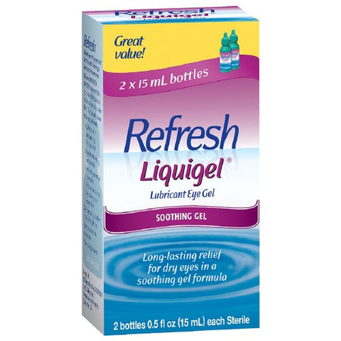Refresh Liquigel, Lubricant Eye Gel, 2 bottles 0.5 oz (15 ml)