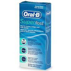 Oral-B Super Floss, Dental Floss, Mint 50 ea - OutpatientMD.com