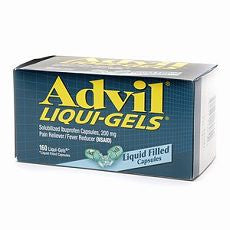 Advil Ibuprofen Capsules, 200mg, Liquid Gels 160's