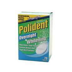 Polident Denture Cleanser, Overnight, Whitening - OutpatientMD.com