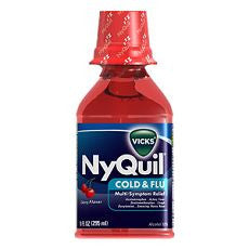 Nyquil Cold & Flu Liquid Cherry Flavor 8 oz - OutpatientMD.com