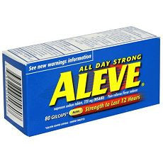 Aleve All Day Strong Smooth Gels 80's