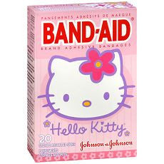 Band-Aid Bandages Hello Kitty Assorted Sizes, 20ea