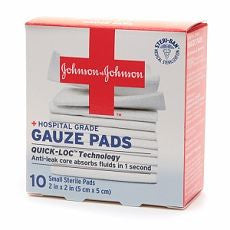 Johnson & Johnson Hospital Grade Gauze Pads, Small - OutpatientMD.com